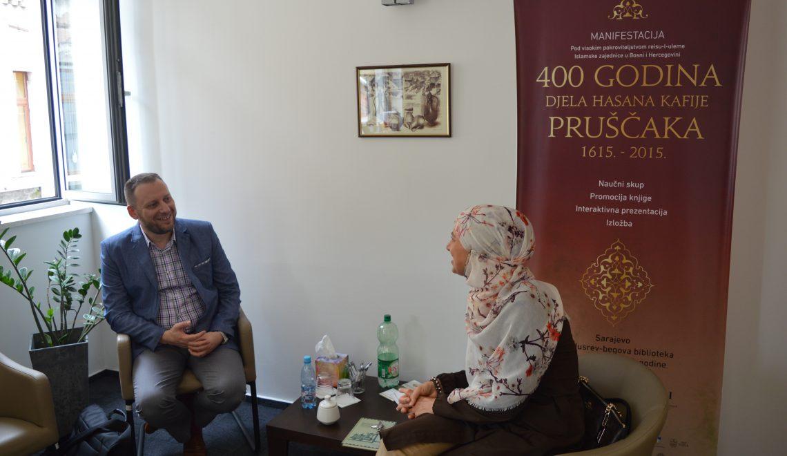 Ermin Sinanović u posjeti Institutu