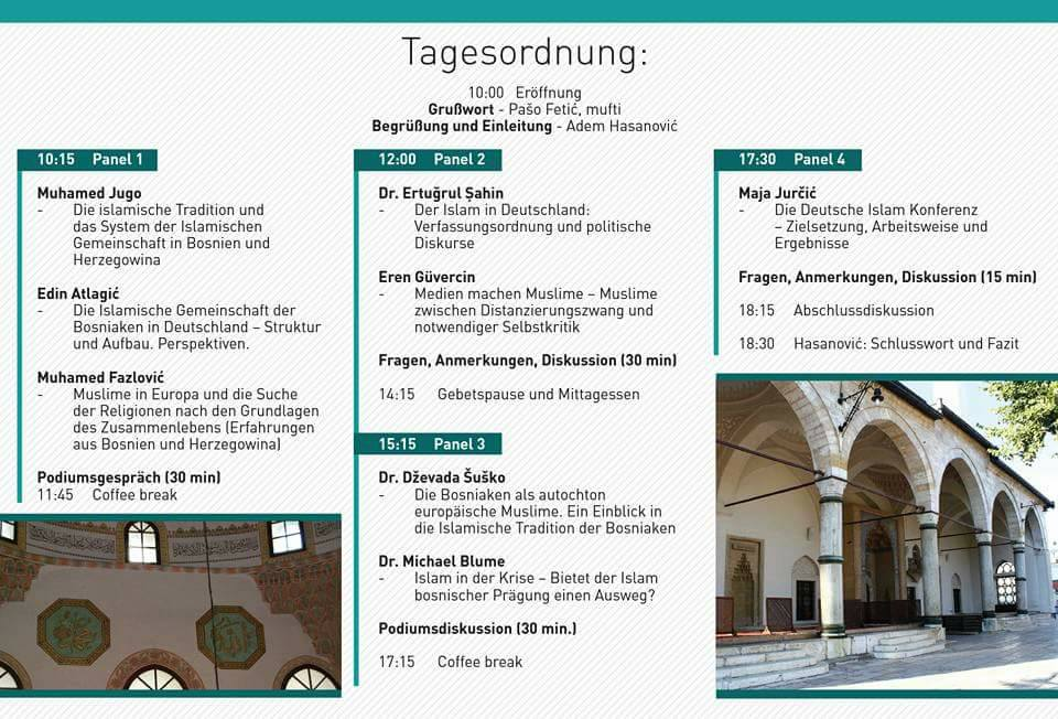 "The director of the Institute at the conference: ""Islam in Deutschland: Herausforderungen, Chancen und Perspektiven"""