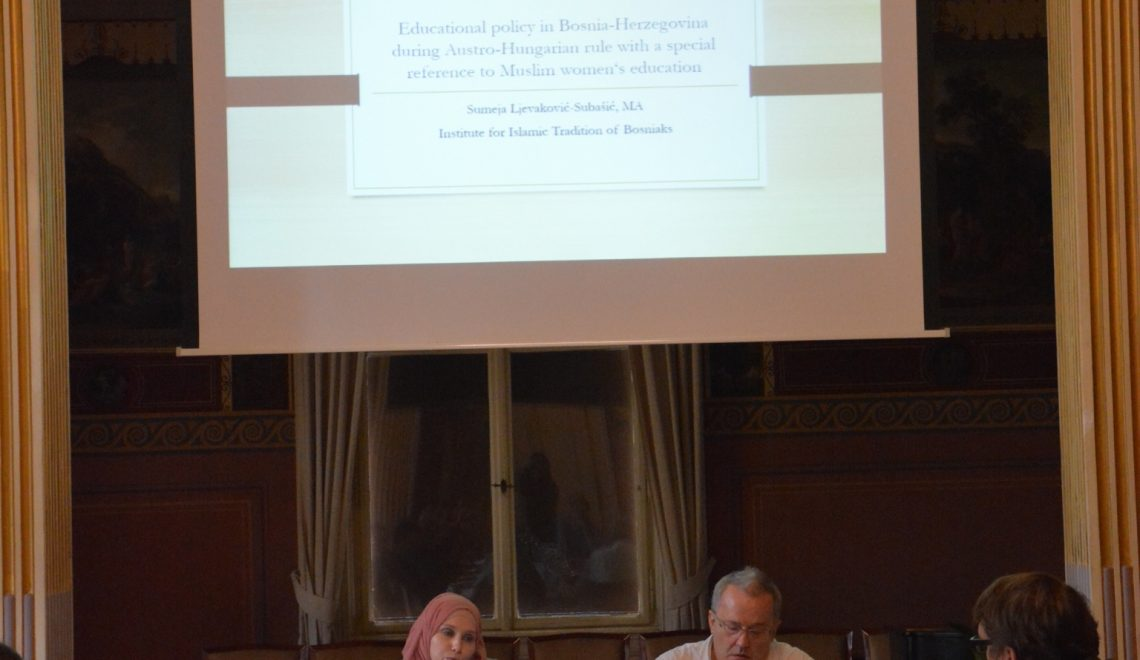 "Sumeja Ljevaković-Subašić delivered a paper at the International Conference ""Central Europe and Balkan Muslims: Relations and Representations"""